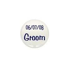 June 7th 2008 Groom Mini Button (10 pack)