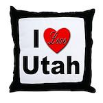 I Love Utah for Utah Lovers Throw Pillow