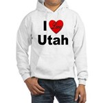 I Love Utah (Front) Hooded Sweatshirt