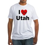 I Love Utah (Front) Fitted T-Shirt