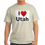 I Love Utah (Front) Ash Grey T-Shirt