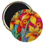 Lillies and Poppies Magnet
