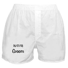 June 7th 2008 Groom Boxer Shorts
