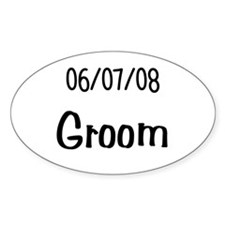 June 7th 2008 Groom Oval Decal