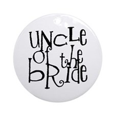 Uncle of the Bride Graffiti Ornament (Round)