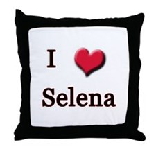 I Love (Heart) Selena Throw Pillow