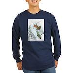 Rufous Hummingbirds Long Sleeve Dark T-Shirt