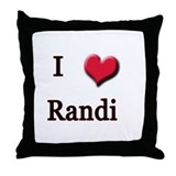 I Love (Heart) Randi Throw Pillow