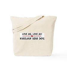 Love My Karelian Bear Dog Tote Bag