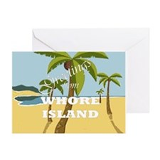 Whore Island Greeting Card