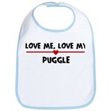 Love My Puggle Bib