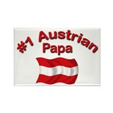 #1 Austrian Papa Rectangle Magnet