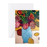 Vase of flowers Greeting Cards (Pk of 10)