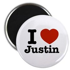"I love Justin 2.25"" Magnet (100 pack)"