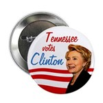Tennessee votes Clinton Political Button