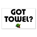 Hitchiker - Got Towel? Rectangle Decal