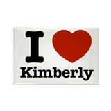 I love Kimberly Rectangle Magnet (100 pack)