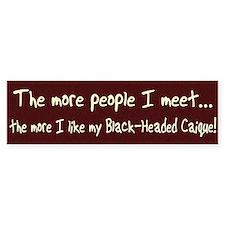 More People Black-Headed Caique Bumper Bumper Sticker