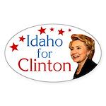 Idaho for Clinton Oval Bumper Sticker