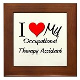 I Heart My Occupational Therapy Assistant Framed T