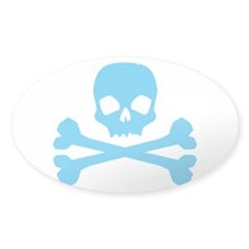 Blue Pirate Oval Decal