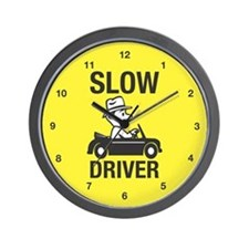 Slow Driver Wall Clock