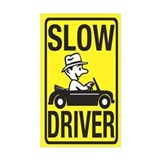 Slow Driver Rectangle Decal