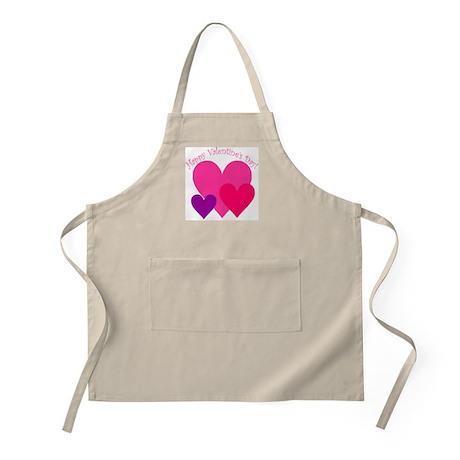 Valentine's Day Hearts Trio BBQ Apron