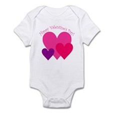 Valentine's Day Hearts Trio Infant Bodysuit