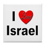 I Love Israel for Israel Lovers Tile Coaster