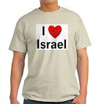 I Love Israel (Front) Ash Grey T-Shirt