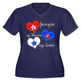 3 Hearts Seabee Women's Plus Size V-Neck Dark T-Sh