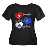 3 Hearts Seabee Women's Plus Size Scoop Neck Dark
