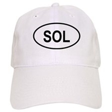 Solomon Islands Oval Black Baseball Cap