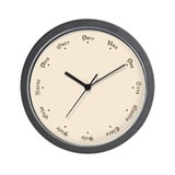 Quaint Wall Clock with Spanish Numbers