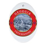 Georgia Masons Oval Ornament
