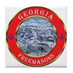 Georgia Masons Tile Coaster