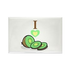 I love Kiwis Rectangle Magnet