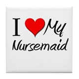 I Heart My Nursemaid Tile Coaster