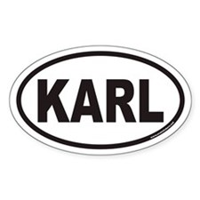KARL Euro Oval Decal