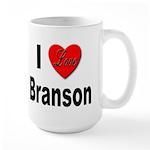 I Love Branson Missouri Large Mug