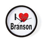 I Love Branson Missouri Wall Clock