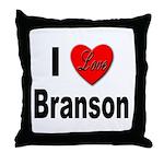I Love Branson Missouri Throw Pillow