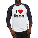 I Love Branson Missouri (Front) Baseball Jersey