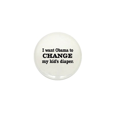 Funny Anti-Obama T-shirts Mini Button