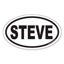 STEVE Euro Oval Decal