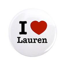 "I love Lauren 3.5"" Button"