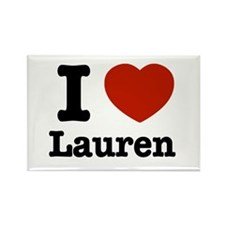 I love Lauren Rectangle Magnet (10 pack)