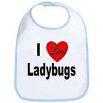 I Love Ladybugs for Insect Lovers Bib