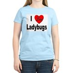 I Love Ladybugs (Front) Women's Pink T-Shirt